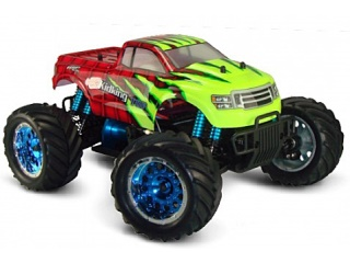 HSP Kidking Top Monstertruck 4WD 1/16 Børsteløs 2.4 Ghz RTR Red Flame