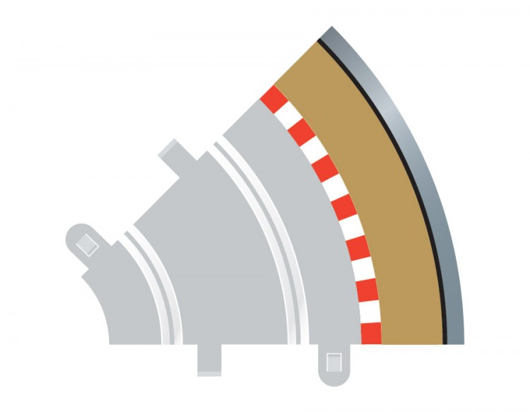 Scalextric Radius 1 Curve Outer Borders 45° x 4 C8240
